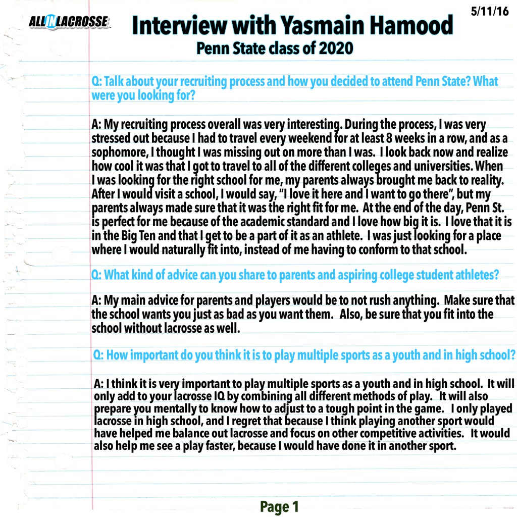 Hamood Interview Page 1