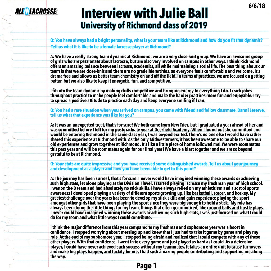 Ball Interview Page 1