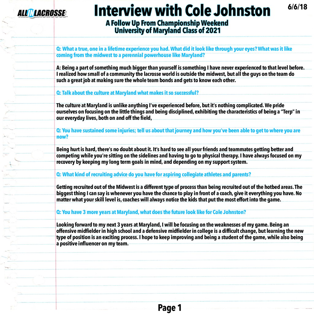 Cole Johnston Interview